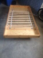 Ikea wooden single bed frame