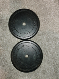"""2x 10kg 1"""" cast iron DKN weight plates £60 No offers"""