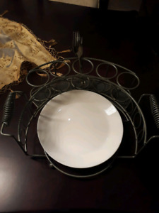 Plates and utensil holder