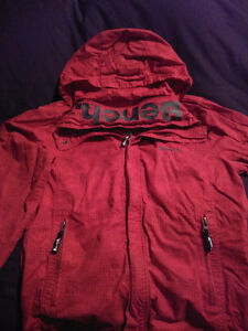 Red bench jacket---Sz m