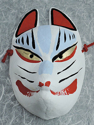 Japanese traditional fox mask  ( Kyoto Fushimi inari kitsune )  white