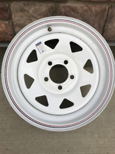 Pair of SRW RV Trailer Wheel Rims - New condition