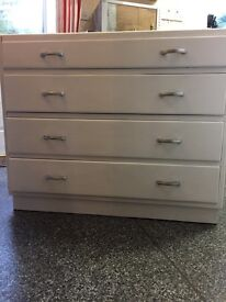 Painted oak chest of drawers