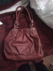 "NWOT!! Red, ""Leather"", Purse.. $10, O.B.O.!!"