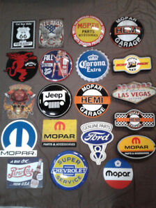 Mopar / Ford  and Chevy Garage  Signs