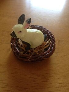 For Sale: Rabbit in Basket Statue