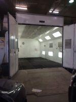 Paint Booth Down draft Concept Cure