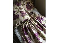 Dorma plum Bloomsbury lined pencil please curtains from Dunelm
