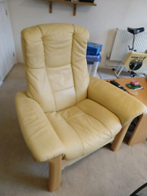 Ekornes stressless recliner sofa and chairs