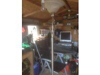 Chrome standard lamp