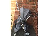 Stokke® Xplory® with every accessory you will need (free John Lewis lambskin for pram)!