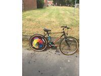 Raleigh bike . Boys bike . Mens bike . 24 inch wheel . Bike . Mountain bike .
