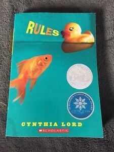 """Kid's Book - """"Rules"""" by Cynthia Lord"""