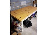 Shabby Chic Farmhouse Dining Table 8 Seats