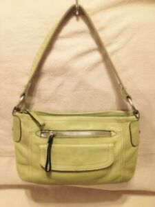 Small Authentic Fossil Avocado Green Leather Hand/Shoulder Bag