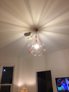 Copper pendant light barely used