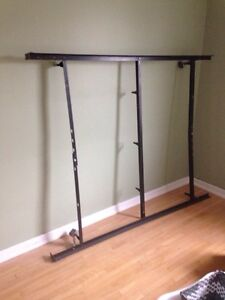 Steel bed frame - fits up to queen.