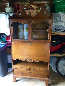 Antique Secretary Bookcase Desk