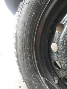 winter tires on rims from Corolla (Like new!)