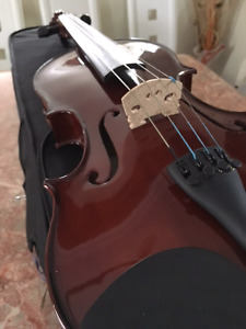 """Like New 16"""" Viola instrument With Case and Book"""