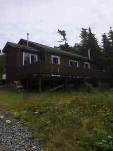 Cabin for sale on freshwater pond