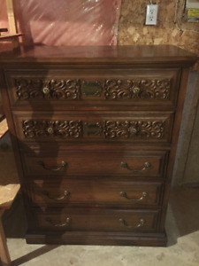 Dresser - wood with deep drawers