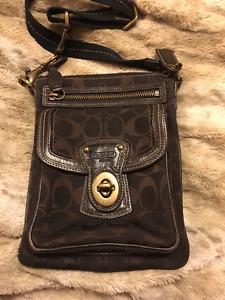 Coach crossbody bag brown mint condition!