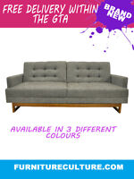 Mid-Century Convertible Couch