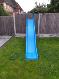 Chad Valley 9ft Kids Wavy Garden Slide - Blue