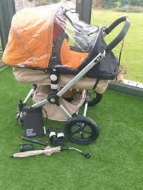 Bugaboo Cameleon Orange black and sand