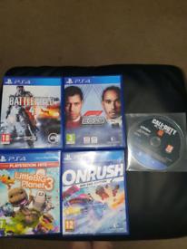 Playstation 4 games ×5