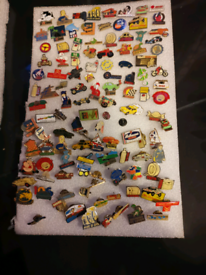 114 transport related pins, vintage and retro rare