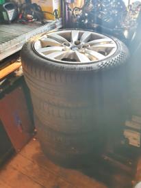 BMW 3 series e90 2008 r17 alloy wheels / tyres
