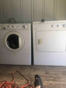 Kenmore stacking washer and dryer set