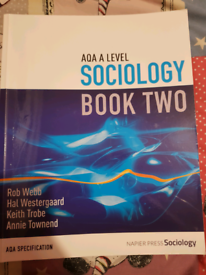Sociology book two a level for sale  Wick, West Sussex