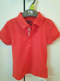 Boys mothercare red polo top sizes from 3-6 months up to 5-6 years