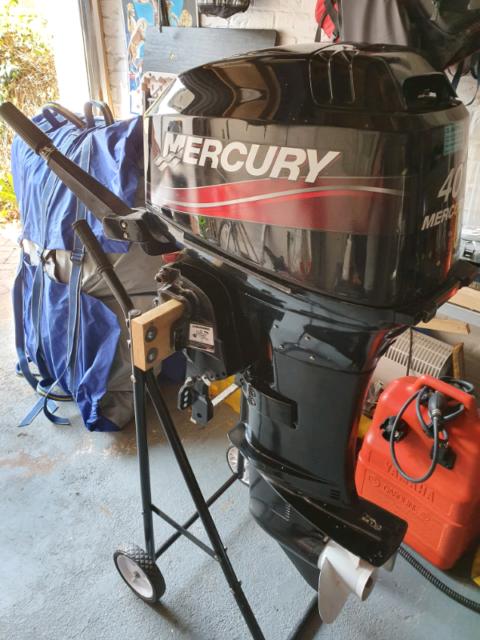 Mercury 40hp Outboard Boat Engine 2 stroke Longshaft Tiller 2005 ! | in  Exmouth, Devon | Gumtree