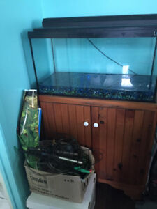 aquarium 29 gallon avec meuble