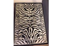Black&White Zebra Print Rug