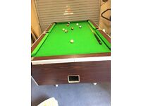 6x3 pool table for sale