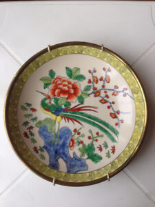 """Beautiful Vintage China Plate / Dish with hanger  7.5 to 7.75"""""""