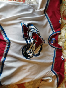 White Colorado avalanche jersey and socks