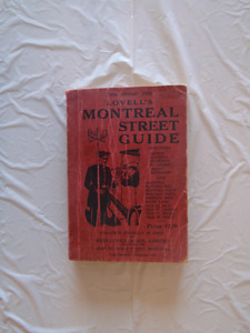 Lovell's Montreal Street Guide edition 1955
