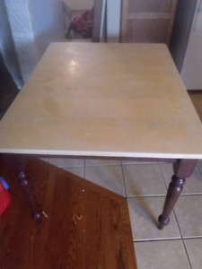Solid wood table  with no leaf
