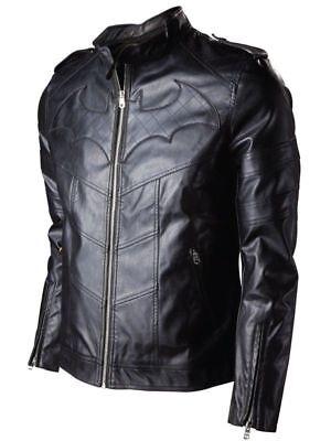 BATMAN  BLACK LEATHER JACKET  ARKHAM KNIGHTS GAME COSTUME JACKET FOR MEN - Leather Jacket Costume