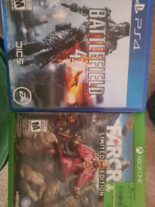 Bf4 ps4. Fc4 and xbox headset all for 20