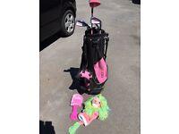 Golf girl set pink