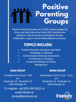 Positive Parenting Group For Mom and Dad- FREE