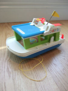 Vintage Fisher Price 'Happy Houseboat' Toy - circa 1972