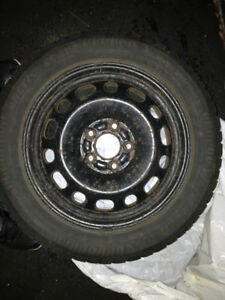 16 Inch Steel Rims and Tires (Set of 4)